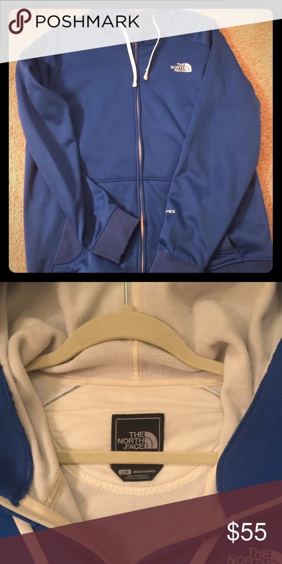 929007d5c6 North face hoodie Royal blue