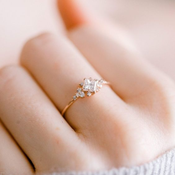 Dainty Ring Gift For Her Valentine Gift Promise Ring Antique Pear Shape Pink Tourmaline And Diamond Ring Band Pave Ring