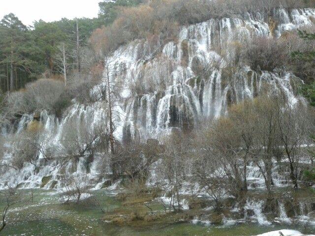 Nacimiento del rio Cuervo. Cuenca. España