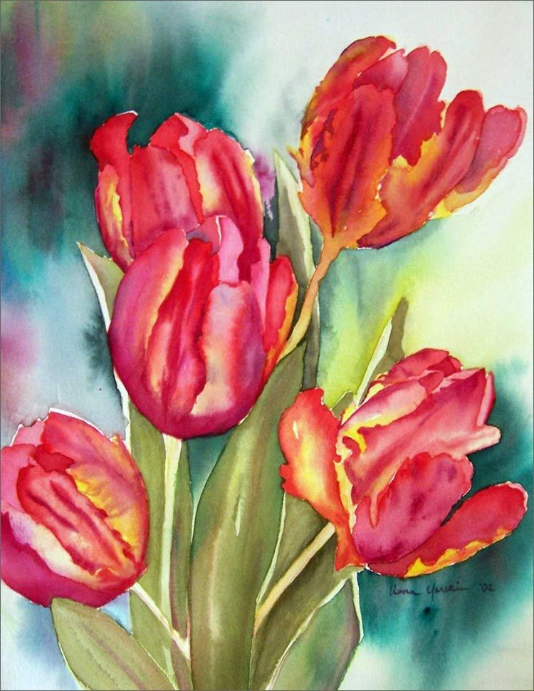 Watercolor greeting card ideas business greeting cards note watercolor greeting card ideas business greeting cards note cards watercolor painted tulips bookmarktalkfo Gallery