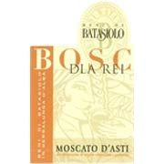 Batasiolo Moscato d'Asti Bosc dla Rei 2014 from Piedmont, Italy - Straw-yellow color, clear and brilliant. Very intense and clean aromas of rose, peach, white fruit, apricot, figs and ...