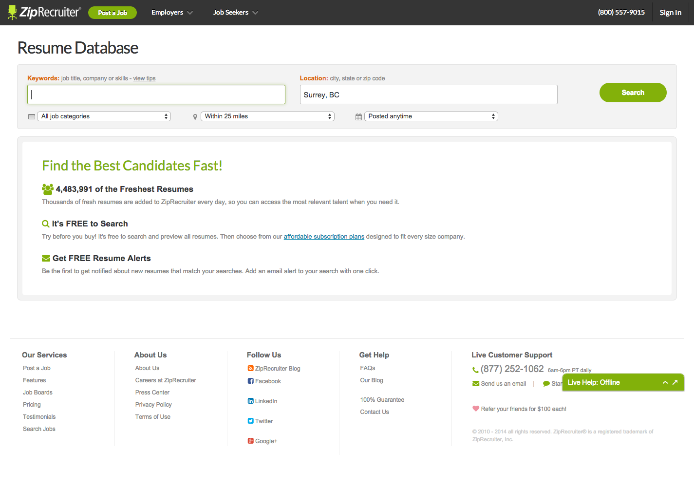 Search Resume Database Ziprecruiter Ckeyboard Hide Website Inspiration Webpage Design Website Layout