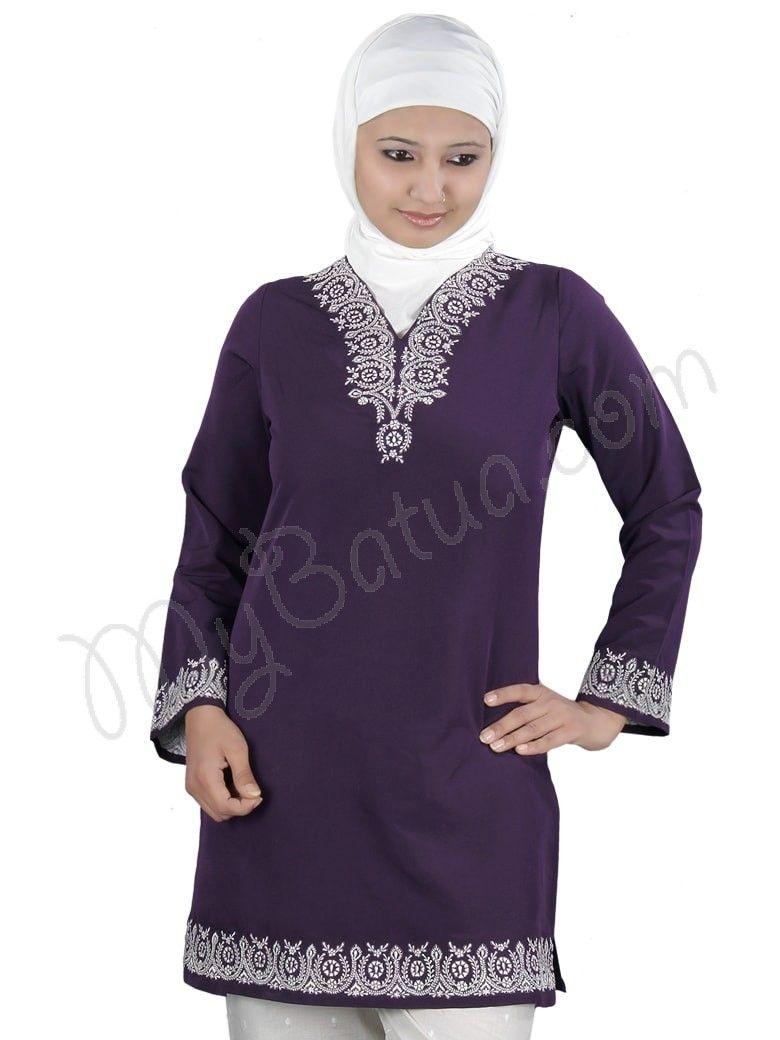596420b51edba Hadeeqa Designer Tunic for Muslim Women Online   Islamic Fashion ...