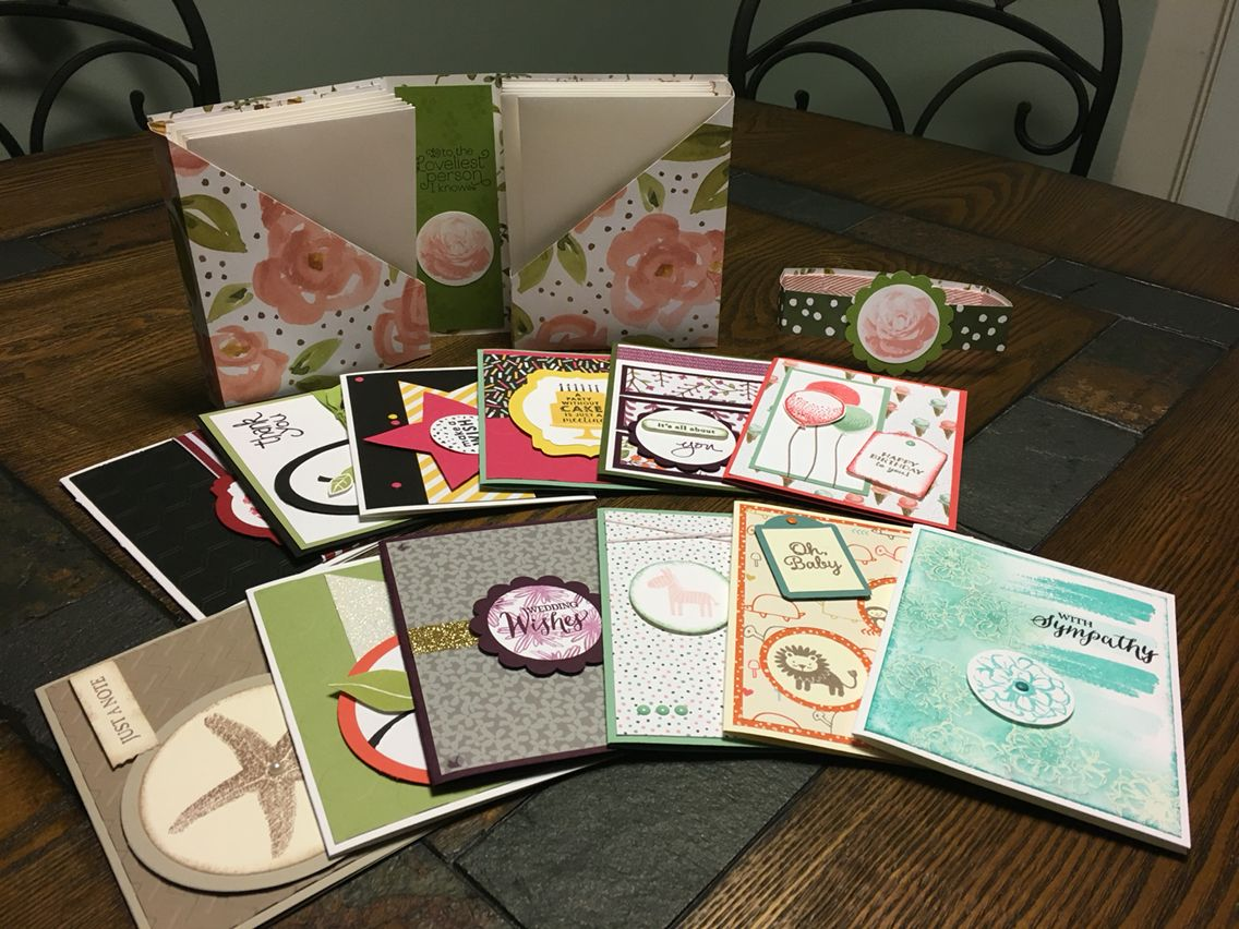 A bigger box of cards #thestampinrn #stampinup #cards #homemadecards #gift