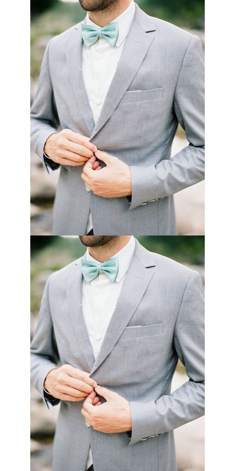 Wedding Suits For Men Light Gray Custom Made Bespoke Ash Grey Suits For Men  2 Button a15f68d52ab9