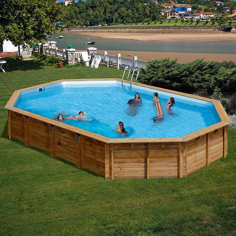 Piscina de madera gre sunbay sevilla ovalada 872x472x146 for Piscinas naturales sevilla