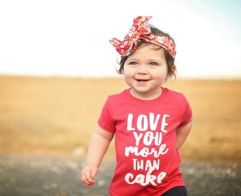 9cd5a8cd6 Love you more than cake Toddler Shirt Baby Shirt Toddler Tee Baby Girl Clothing  Baby Shirt Baby Clothes