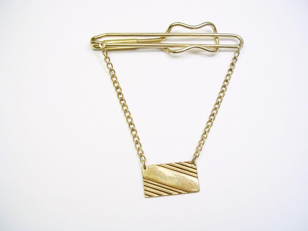Vintage Tie Chain  simple Design Tie Slide Tie Clip Tie Accessory Formal Wear  Men Wedding Jewelry  Tie Bar  Best Man SWANK