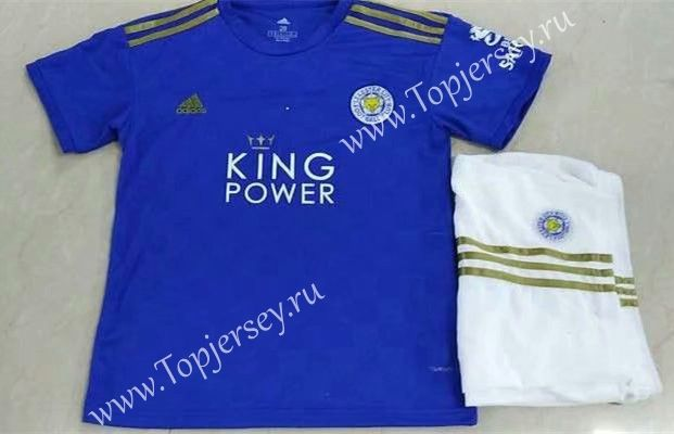 2019 2020 Leicester City Home Blue Kids Youth Soccer Uniform Leicester City Soccer Uniforms Youth Soccer