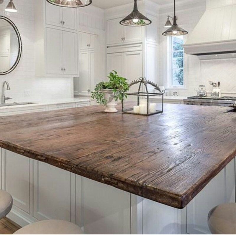 Kitchen Countertops Kinds: Awesome DIY Wood Countertops Style Decorating Ideas (6
