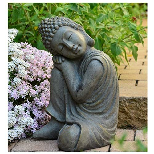 Intrendu Bouddha Statuette Chinois 43 Cm Decoration Zen Pour
