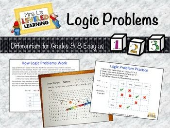 I used this logic problem template for kids to get to know each other at the beginning of the year! So easy and fun! FREE!