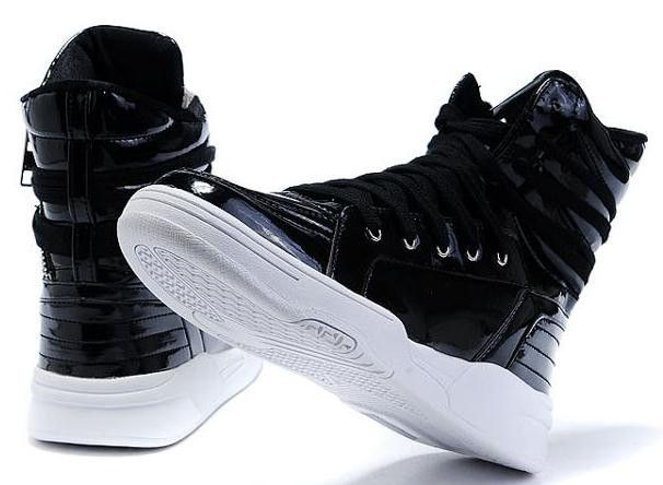 570dbec0b1e282 Fashion casual solid color High-top skateboarding shoes men s hip-hop shoes