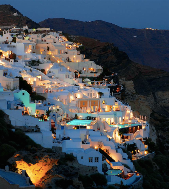 Complete View of Santorini