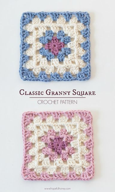 Classic Granny Square Free Crochet Pattern Hopeful Honey