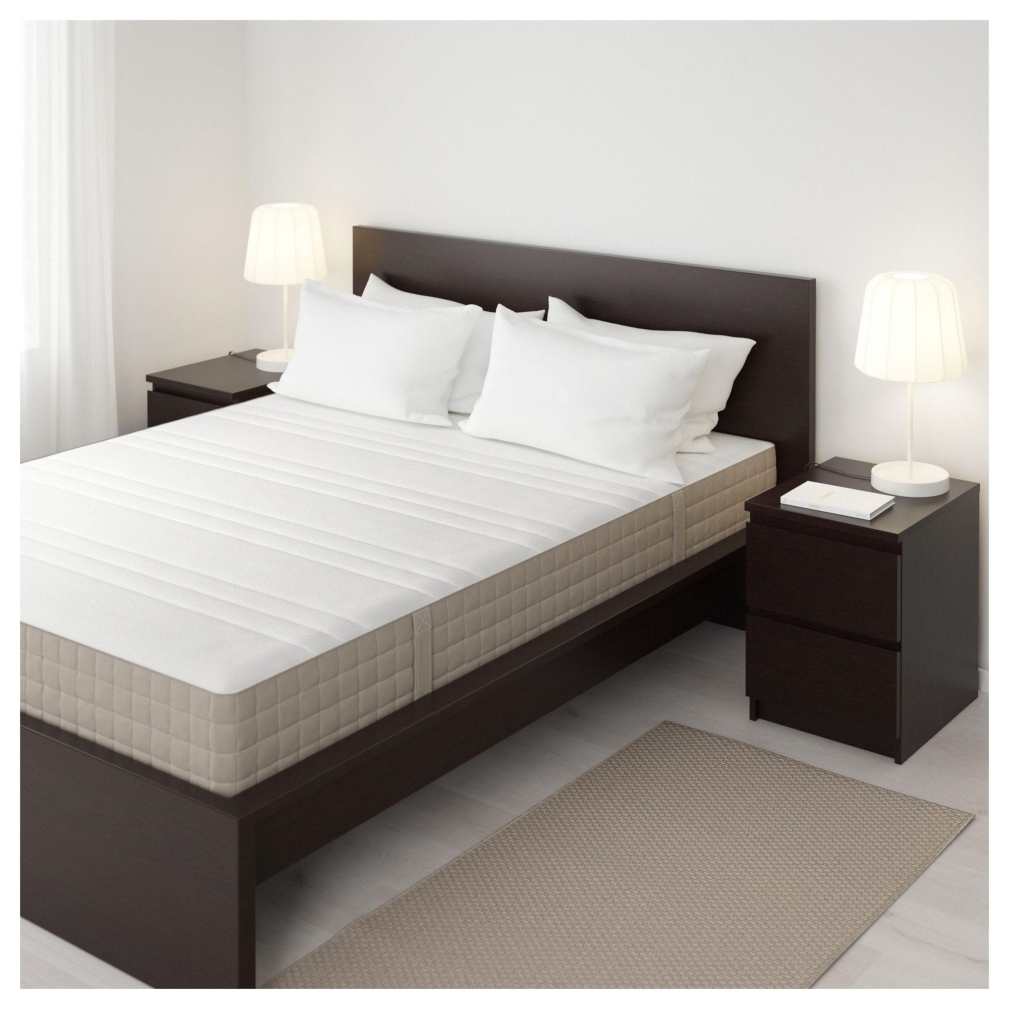 HAUGESUND Spring mattress firm, dark beige King Ikea