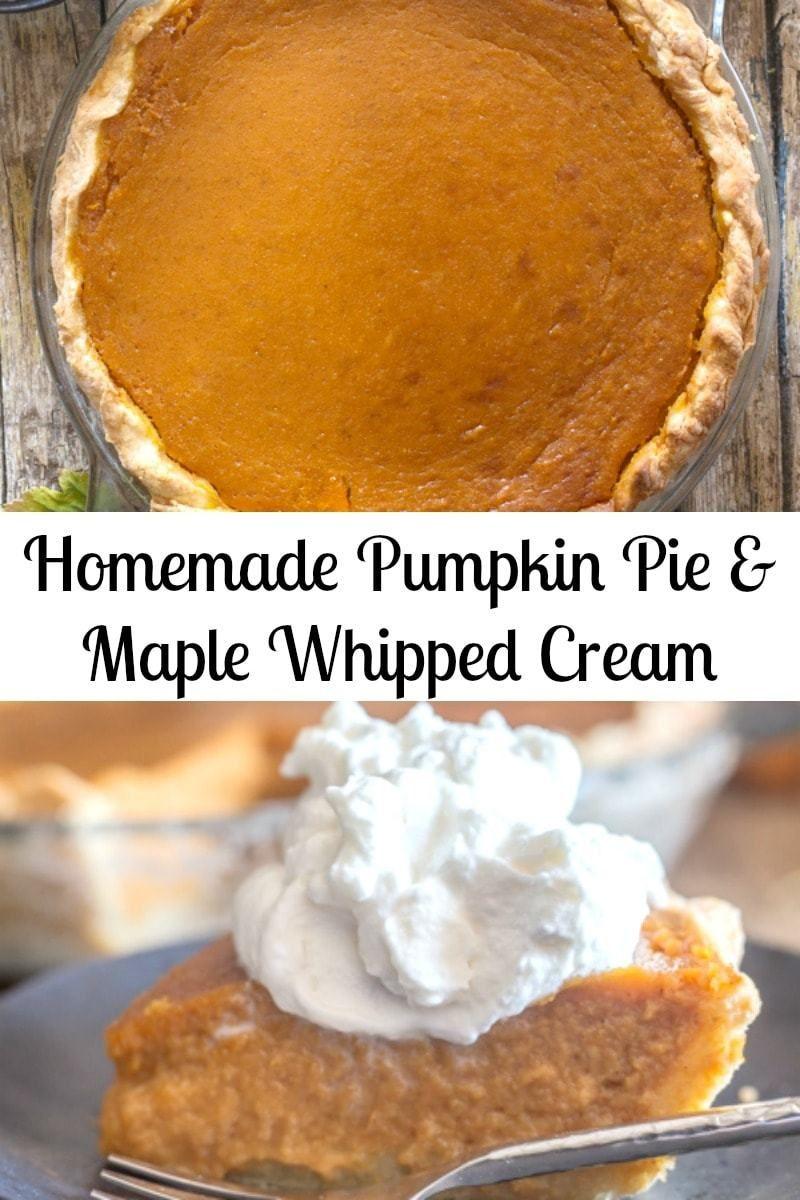 The Perfect Fall Dessert Homemade Pumpkin Pie A Brown Sugar Pie Crust Tasty Spiced Pumpkin Fil Homemade Pumpkin Pie Pumpkin Recipes Dessert Homemade Pumpkin