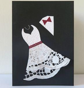 Doily Wedding Card #hochzeitskleiderhäkeln