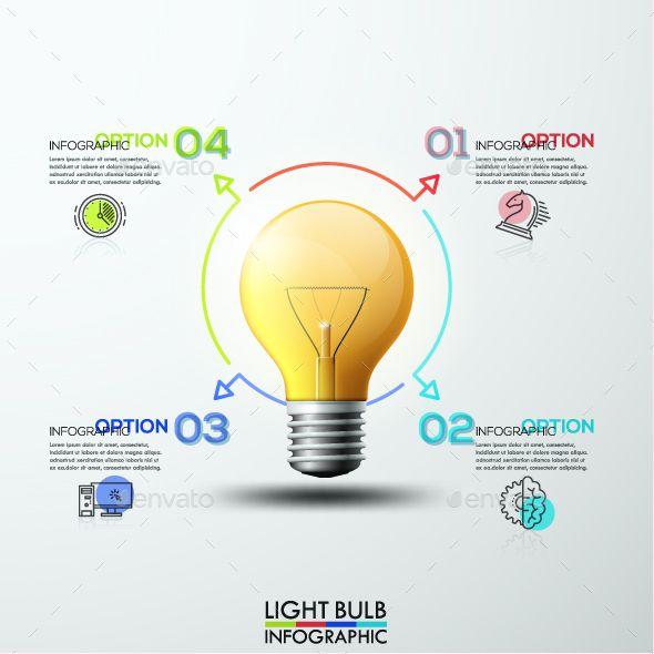 3d Modern Light Bulb Infographics (avec Images)