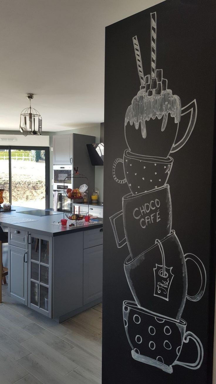 Dessin à la craie - küche tafel - #à #craie #dessin #Küche #La