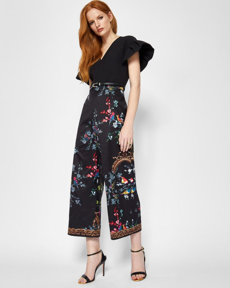 002c2cf965683 ... newest arrivals in women s fashion clothing. Opulent Fauna culotte  jumpsuit - Black