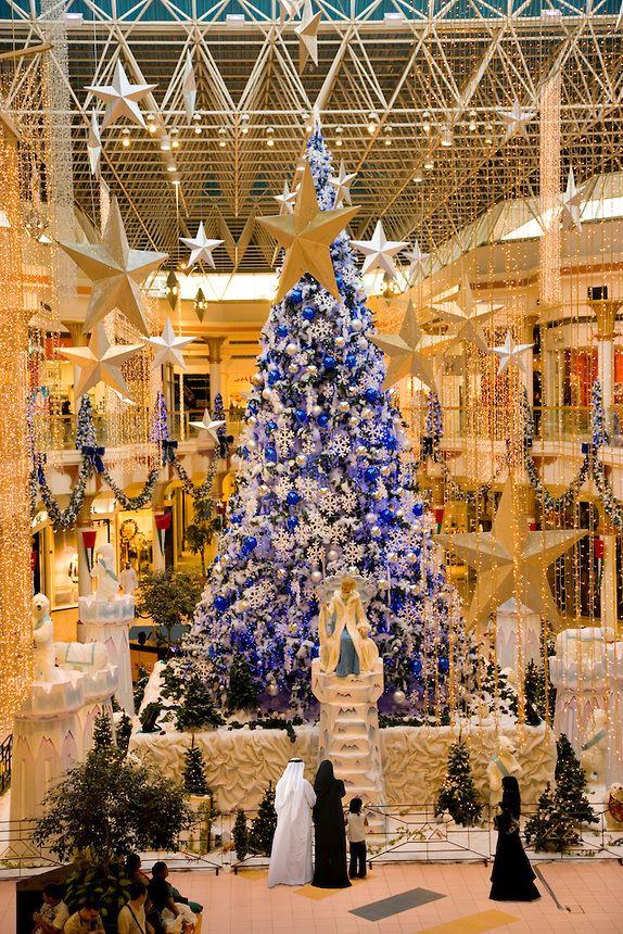 Dubai Christmas Tree At Wafi Mall Shopping Centre Center An Up Market Luxurious Mall Christmas Wonderland Christmas Tree Christmas Lights