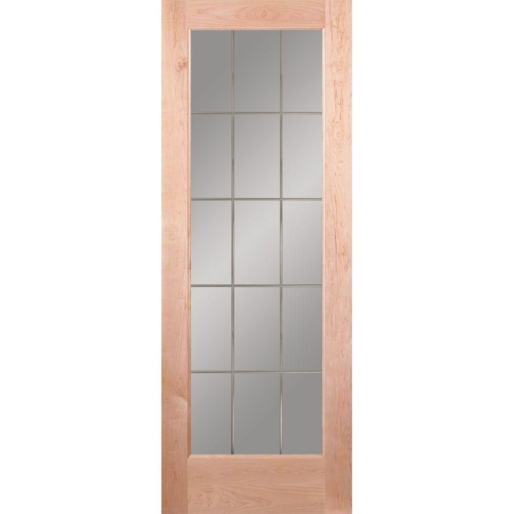 Feather River Doors 36 In X 80 In 15 Lite Illusions Woodgrain Unfinished Maple Interior Door Slab Maple Ready To Stain Interior Barn Door Hardware Interior Design Atlanta Interior Wood Stain