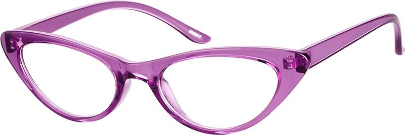 53f1c04fc5c Zenni Womens Retro Cat-Eye Prescription Eyeglasses Purple TR 2025617 ...