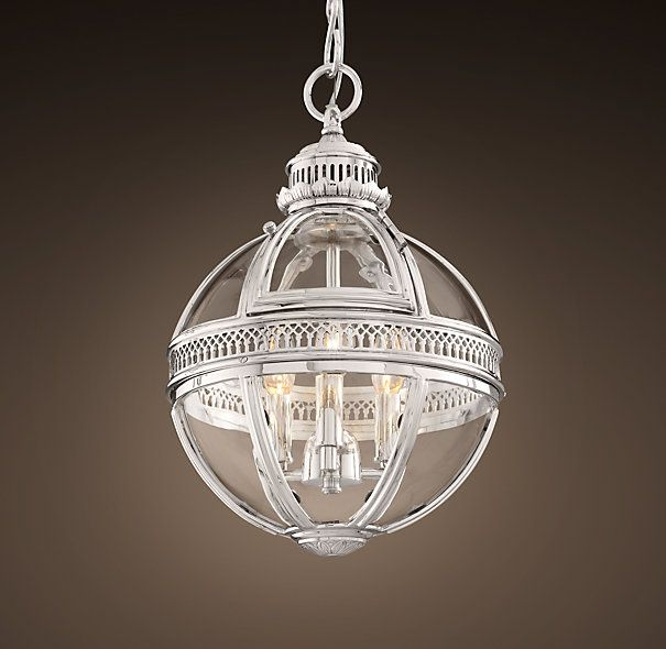 Victorian Kitchen Lighting: Victorian Hotel Pendant Extra-Small Polished Nickel
