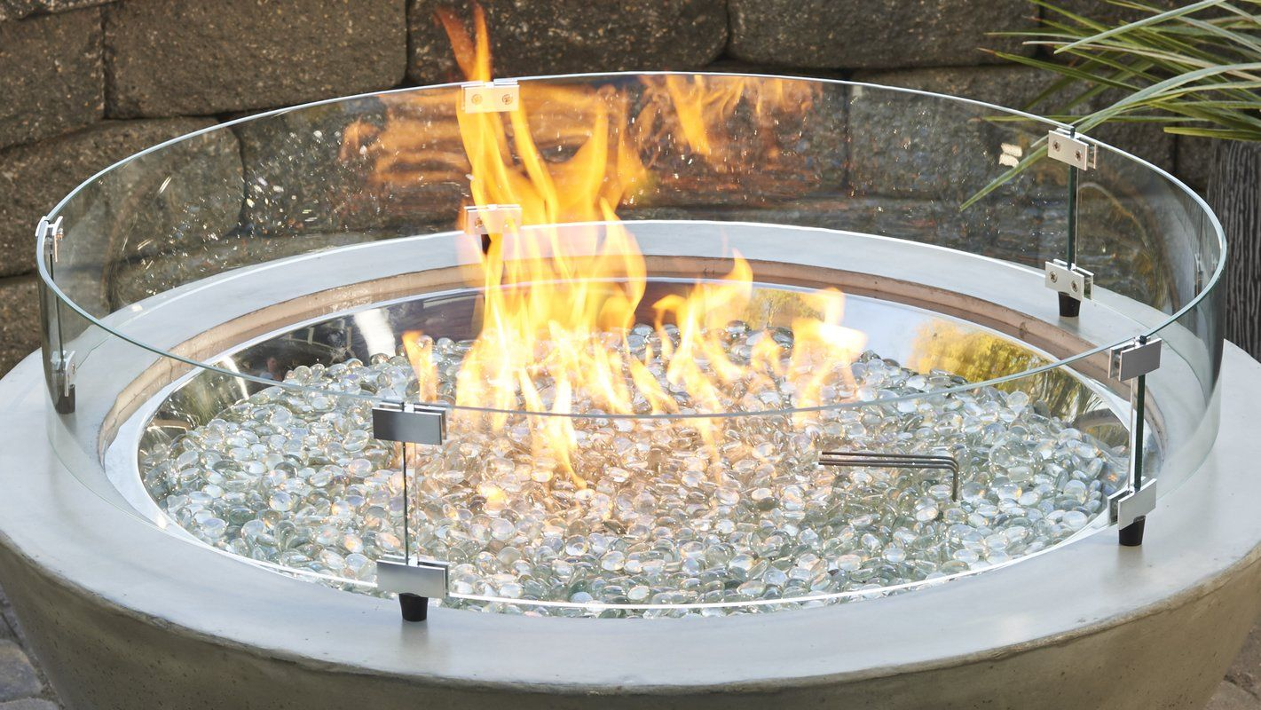 Fire Pit Flame Guard In 2020 Glass Fire Pit Fire Pit Outdoor Heating