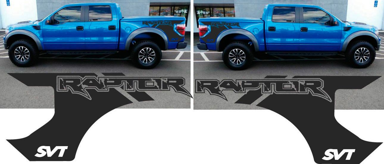 Product FORD F RAPTOR SVT Bed DECALS GRAPHICS STICKERS - Truck bed decals customford fvinyl graphics for bed fender