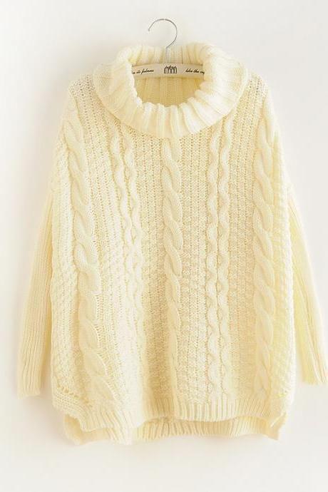 Retro Loose twist Knit Sweater