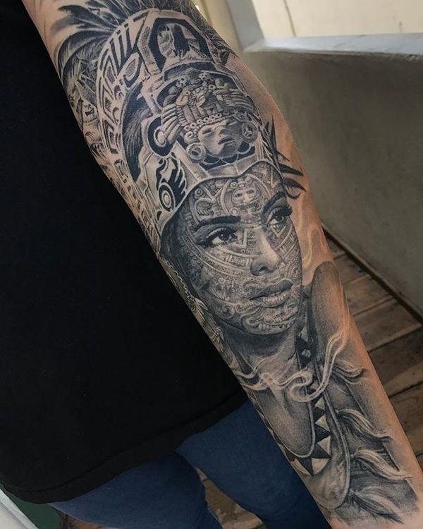 Diseños únicos De Tatuajes Aztecas Para Hombres Y Mujeres Tattoo