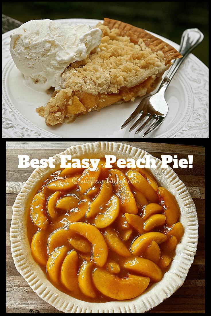 Best Easy Crumb Top Peach Pie Peach Pie Recipes Easy Pie