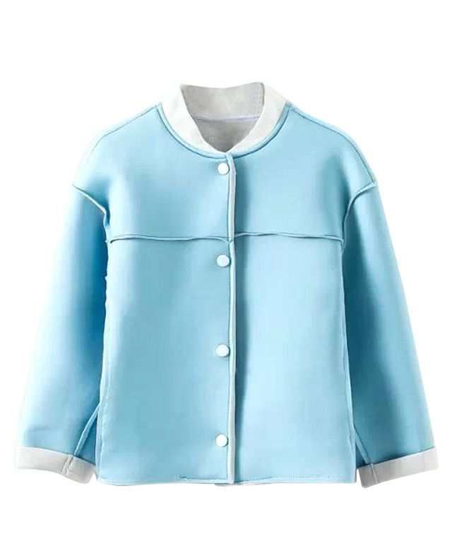 Pure Color Stand Collar Coat