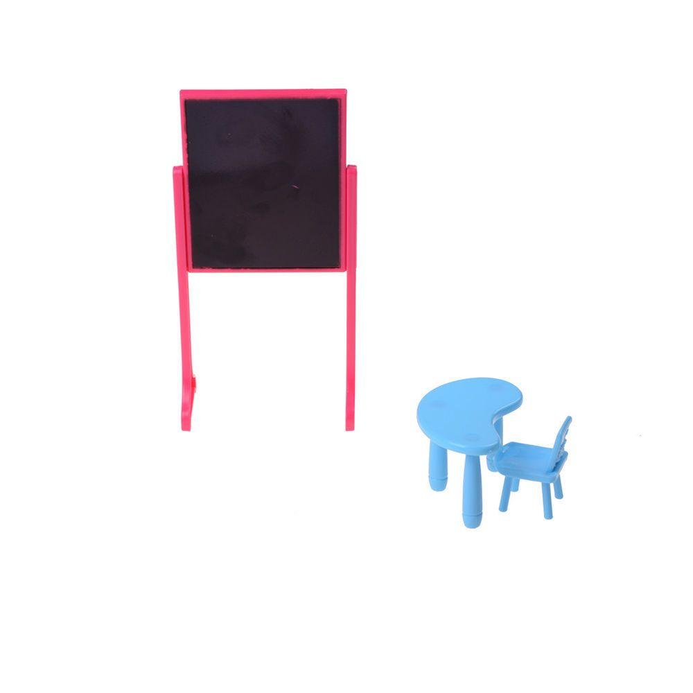 1 Satz Tafel Schreibtisch Stuhl Möbel Kit Für Barbie Kelly Puppen Haus  SpielzeZz