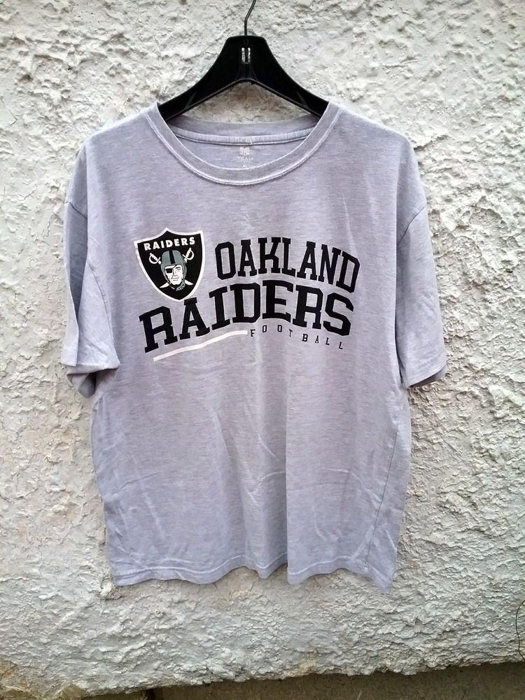 763648d8c Raiders Oakland Shirt T Gray XL Men NFL Graphic Logo Gruden Mens tee   fashion  clothing  shoes  accessories  mensclothing  shirts (ebay link)
