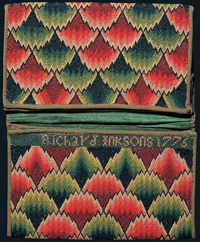 Wool on Linen Double Pocketbook c.1776