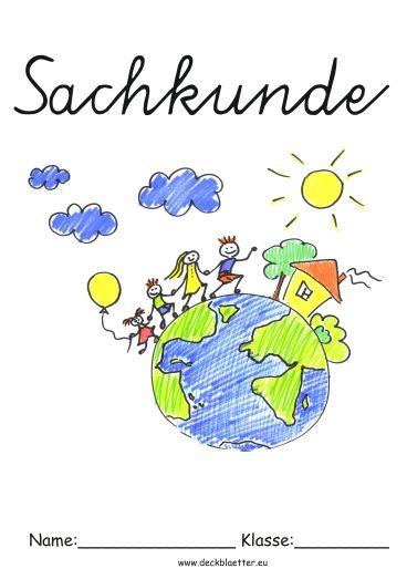 Deckblatt Sachkunde Grundschule Schule Pinterest School