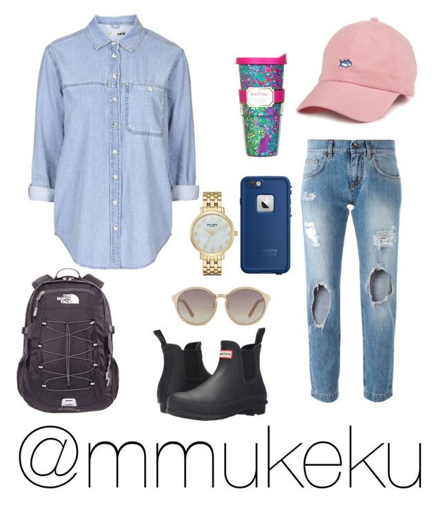 """Untitled #152"" by mmukeku on Polyvore featuring Topshop, LifeProof, Lilly Pulitzer, Dolce&Gabbana, Hunter, Kate Spade, Linda Farrow and The North Face"