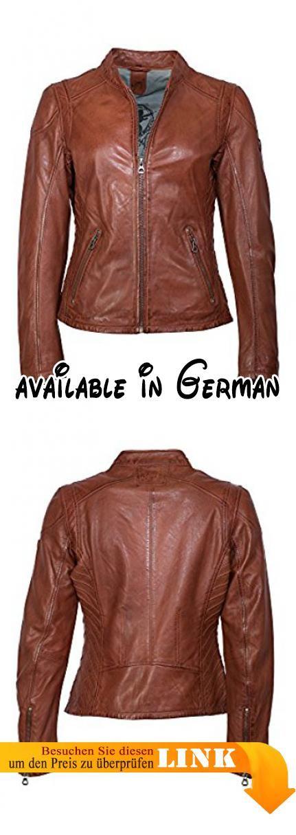 41ab3d66be7e67 Superschöne Marken Lederjacke aus Lammnappa von Gipsy in cognac mit coolem  Look. Modisch tailliert geschnittene Jacke im Biker-…