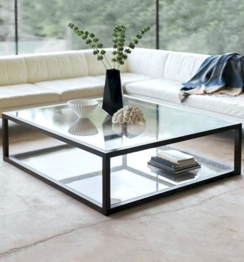 48 Fascinating Rectangular Glass Coffee Tables Ideas Modern