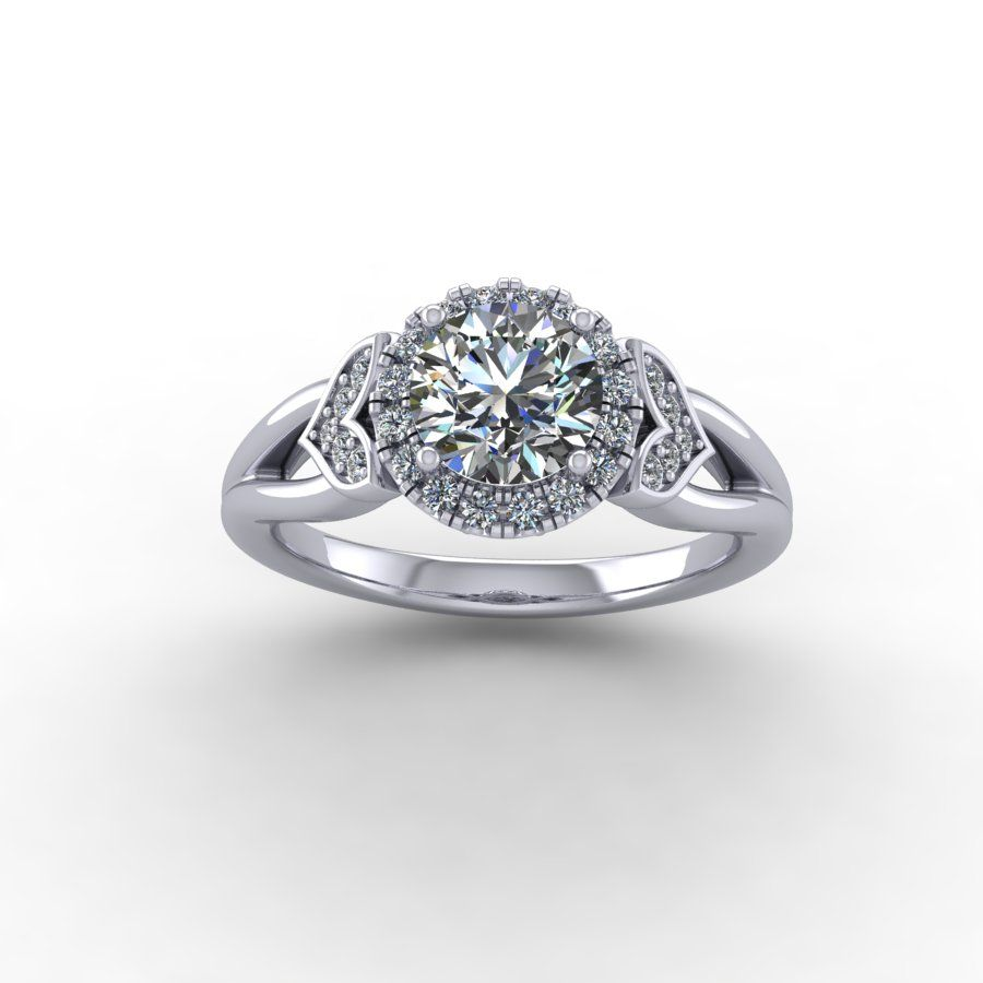 one ctw engagement white forever moissanite round platinum a f d solitaire in ring gold
