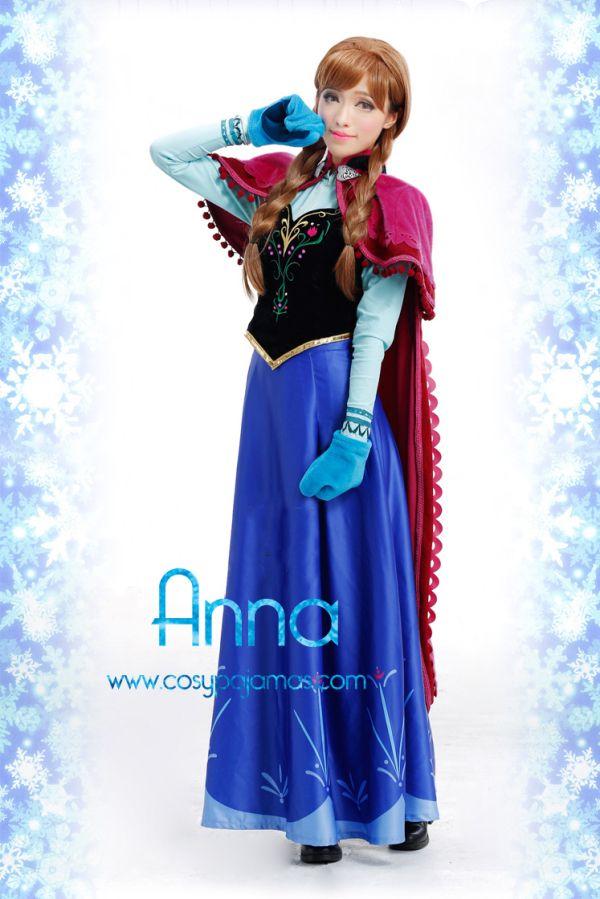 lussureggiante nel design nuova versione sconto in vendita Frozen Princess Anna Cosplay Costume | Carnevale