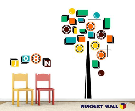 Tree Home Decor - Kids Wall Decals - Vinyl Stickers