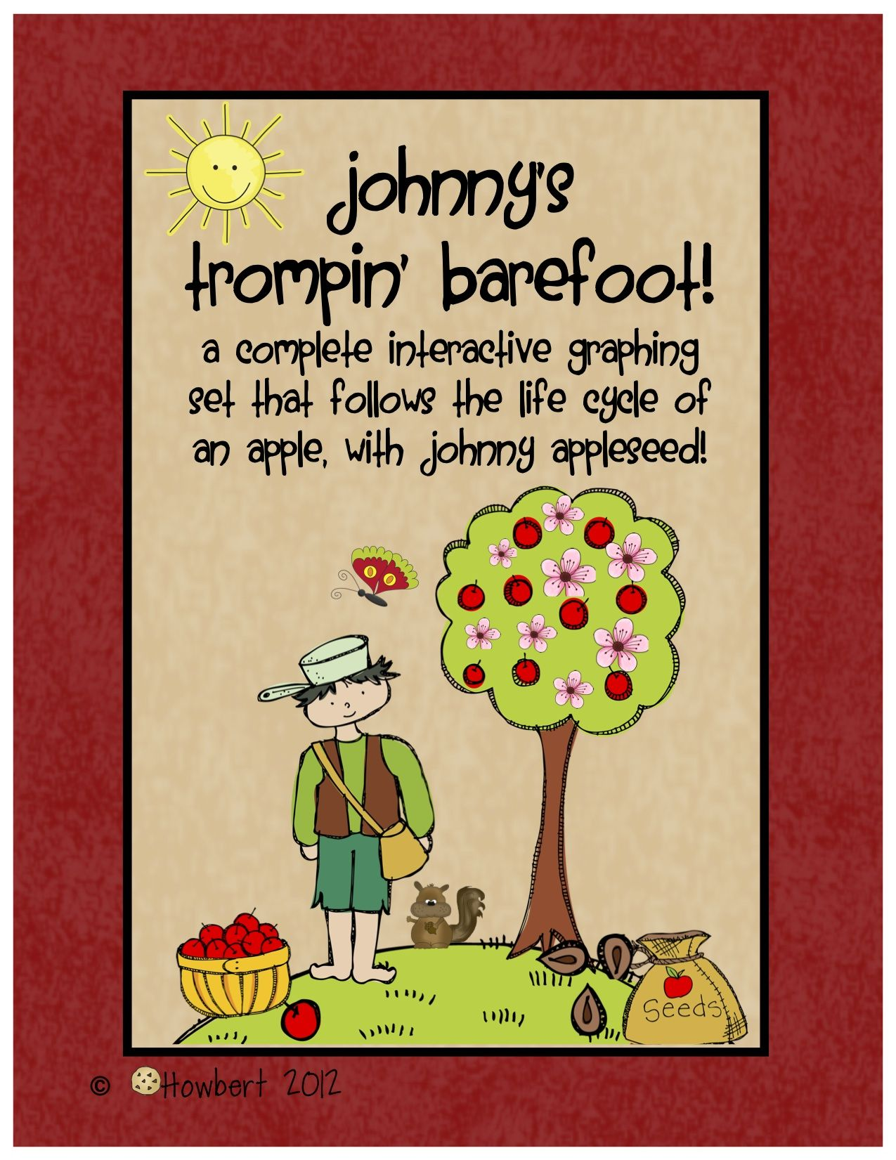 Johnny Appleseed Amp An Apple S Life Cycle Graphing Set