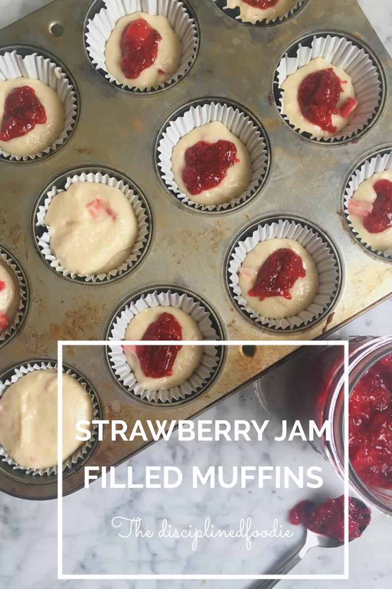 Strawberry Jam Stuffed Muffins Strawberry Jam Muffins