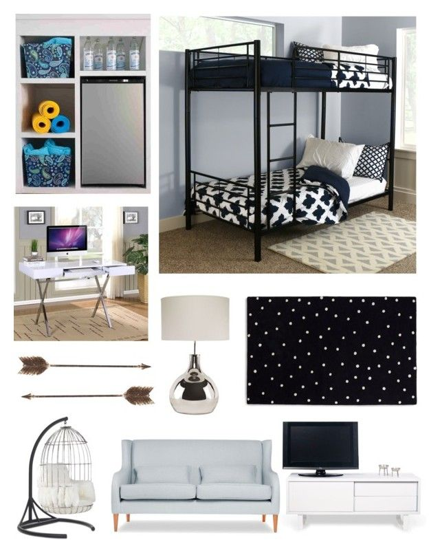"""""""Dorm Favorites"""" by savvy-style13 on Polyvore featuring interior, interiors, interior design, home, home decor, interior decorating, Walker Edison, Kate Spade, TemaHome and Creative Co-op"""