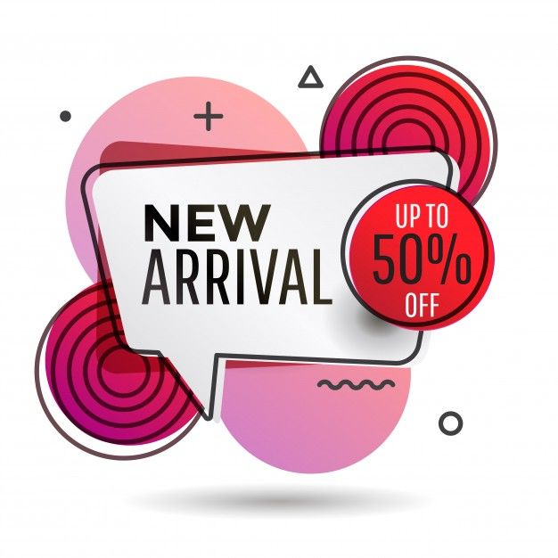 New Arrival Banner Memphis Style Premium Vector Poster Template Design Blackfriday Design Banner Design
