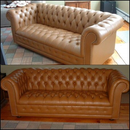 Re Leather Couch Color